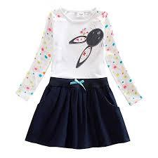 JUXINSU Toddler Girl Cotton Long Sleeve Dress for ... - Amazon.com