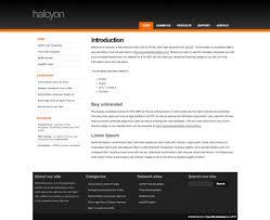 halcyon web template web templates zypop halcyon a web template by zypop