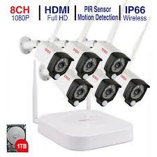 <b>Tonton 1080P</b> Wireless CCTV System 8CH <b>NVR WIFI</b> IP Camera ...