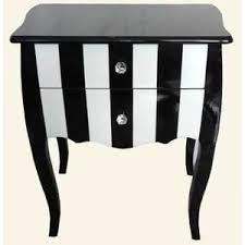 black white stripe bedside table cabinet black and white striped furniture