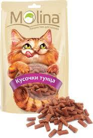 <b>Лакомство для кошек Molina</b> Кусочки тунца, 80 г