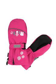 <b>Варежки</b> для девочки <b>Reike</b> Mushrooms, цвет: розовый. RW20 ...