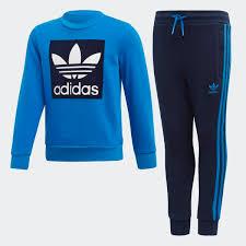 adidas <b>Комплект</b>: свитшот и <b>брюки</b> Crew - синий | adidas Россия