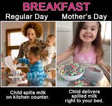 Mother's Day vs. A Regular Day - Blog Tips & Advice | mom.me via Relatably.com