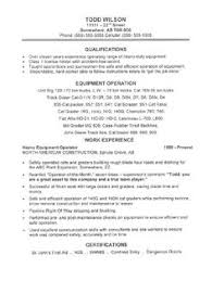 this equipment operator resume sample is the result of developing a resume for a client with 11 years of solid heavy duty equipment operating experience sample resume heavy equipment operator