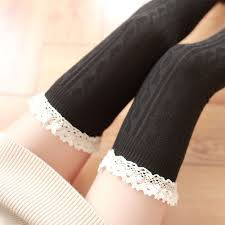 <b>New Fashion Candy Colors</b> Striped Thigh High Stockings Women ...