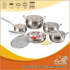 Tri-ply <b>10 Pcs</b> 18 10 Stainless Steel <b>Apple Shape</b> Cookware Set ...