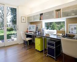 home office with brown laminate floors and long black desk picture fbeedcom black gloss rectangle home office