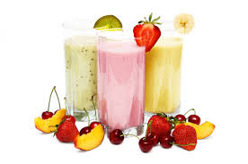 receitas de iogurte, milk-shake e frapê