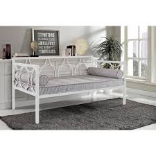 Metal Daybed <b>Frame White</b> Contemporary Day <b>Bed</b> Twin Dorel ...
