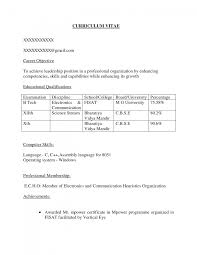career objective in cv for electronics engineers cipanewsletter career objective for freshers resume examples make resume