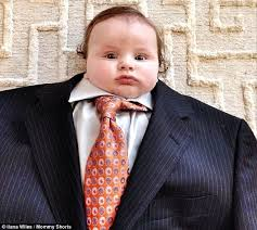 Baby Suiting photo trend puts tiny tots in adult clothes | Daily ... via Relatably.com