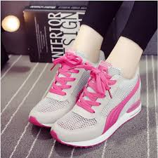 Breathable <b>Mesh Shoes Women Wedges Shoes Casual</b> Sport ...