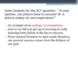 the act essay  first impression