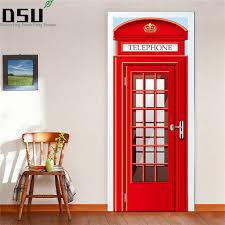 <b>2pcs</b>/set Telephone Booth <b>Wall Stickers</b> DIY Mural Bedroom <b>Home</b> ...