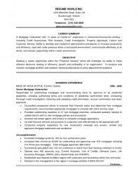 resume templates mortgage underwriter resume sample underwriter Example Resume And Cover Letter