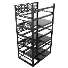 Crypto Coin <b>Open Air</b> Mining Frame Rig <b>Sever rack</b> 8 GPU Case 24 ...
