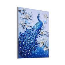 UHIPPO Home Decor Craft Art Peacock <b>5D DIY Diamond Cross</b> ...