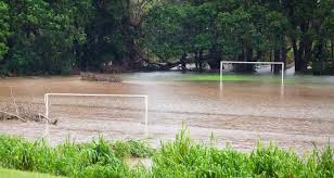 Image result for flooded football field