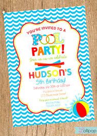 printable swimming pool birthday party invitations custom printable swimming pool party invitations wedding