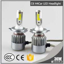 1x Super Bright H4 <b>C6</b> 36W 3800LM 6000K <b>Car LED Headlight</b> Hi ...