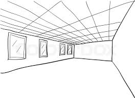 simple room perspective doodle sketch stock vector colourbox on simple circuit schematic drawing room