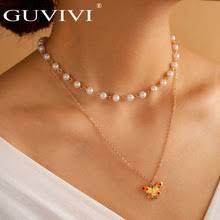 Многослойное ожерелье-чокер с имитацией жемчуга, богемная ...