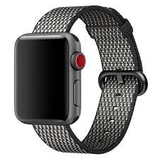 <b>Ремешок</b> Woven <b>Nylon band</b> Alt для <b>Apple</b> Watch 38/40 Чёрный