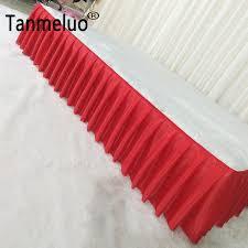 White Table Skirt 20FT(6M) Length Ice <b>Silk</b> Table Cloth <b>High Quality</b> ...