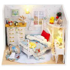 miniature dollhouse furniture diy wooden doll house model building kits toys for childrens giftlovely building doll furniture