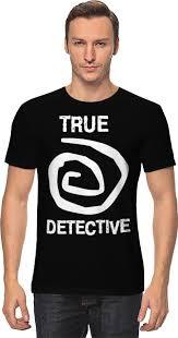 <b>Футболка классическая Printio true</b> detective #754313
