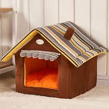 New Fashion <b>Striped Removable</b> Cover Mat <b>Dog House Dog</b> Beds ...