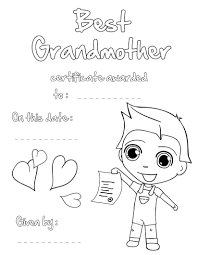 best grandpa certificate coloring pages com best grandmother certificate