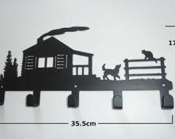 Panda Stylish Metal Art <b>Decor Wall</b> Mounted Key Hook Hanger for ...