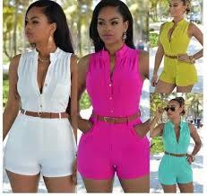 <b>S 2XL PlusSolid Casual</b> Sexy Sleeveness Jumpsuits 2020 New ...