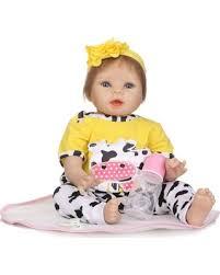 Deal Alert! 20% Off <b>55cm</b> Soft Silicone Vinyl Baby <b>Doll</b> Non-toxic ...