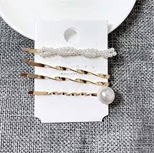 <b>3Pcs</b>/<b>Set Pearl Metal Gold</b> Color Hair Clip Bobby Pin Barrette ...