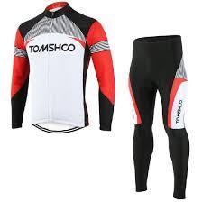 Shop TOMSHOO <b>Spring Autumn Men</b> Cycling Clothing Set ...