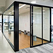 the 487 series office partition system is now available with an integrated top hung sliding door option that saves valuable floor space compared to aluminum office partitions