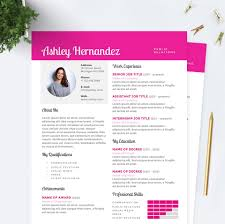 bright pink resume cover letter references template package bright pink resume cover letter references template package