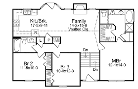 Cozy Split Level House Plan   SL   st Floor Master Suite  CAD    Floor Plan