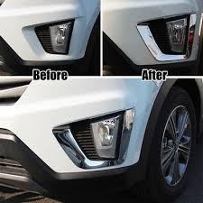 <b>Fit For Hyundai Creta</b> ix25 2014 2015 2016 Chrome Front Fog Light ...