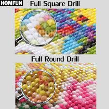 HOMFUN <b>5D Diy Алмазная</b> вышивка крестиком &quot;Цветочный ...