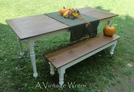 table rustic trades farmhouse tables bench