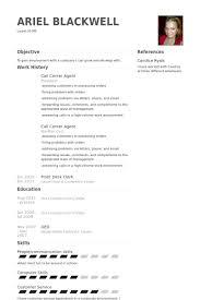 Call Center Agent Resume samples - VisualCV resume samples database