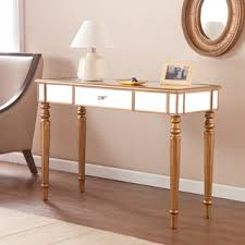 marble dining table adecc: harper blvd champagne gold fontaine mirrored sofa console table
