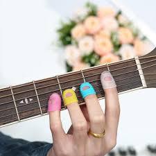 <b>5pcs Guitar Silicone</b> Finger Gloves for Bass <b>Guitar</b> Ukulele Random ...