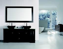 element contemporary bathroom vanity set: oasis  double sink vanity set with decorative drawer in espresso design element