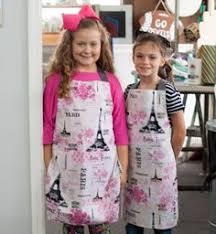 Our most popular <b>apron set</b>! Matching girl and doll glitter Paris ...