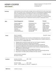 project manager cv construction manager resume sample